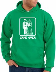 Game Over Hoodie Funny Marriage Kelly Green Hoody – White Print