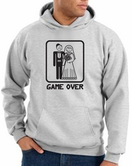 Game Over Hoodie Sweatshirt Funny Marriage Ash Hoody – Black Print