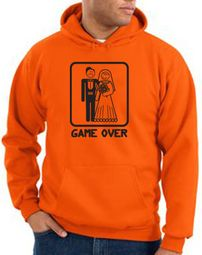 Game Over Hoodie Sweatshirt Funny Marriage Orange Hoody � Black Print