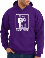 Game Over Hoodie Sweatshirt Funny Marriage Purple Hoody – White Print