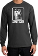 Game Over Long Sleeve Shirt Funny Marriage Charcoal Shirt White Print