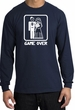 Game Over Long Sleeve Shirt Funny Marriage Navy Shirt - White Print