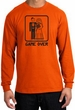 Game Over Long Sleeve Shirt Funny Marriage Orange Shirt - Black Print