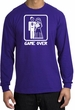 Game Over Long Sleeve Shirt Funny Marriage Purple Shirt - White Print