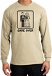 Game Over Long Sleeve Shirt Funny Marriage Sand Shirt - Black Print