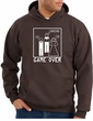 Game Over Marriage Ceremony Hoodie Funny Brown Hoody - White Print