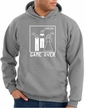 Game Over Marriage Ceremony Hoodie Funny Heather Hoody - White Print