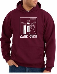 Game Over Marriage Ceremony Hoodie Funny Maroon Hoody - White Print