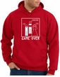 Game Over Marriage Ceremony Hoodie Funny Red Hoody - White Print