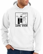 Game Over Marriage Ceremony Hoodie Funny White Hoody - Black Print