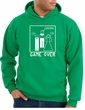 Game Over Marriage Ceremony Hoodie Kelly Green Hoody - White Print