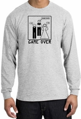 Game Over Marriage Ceremony Long Sleeve Ash Shirt - Black Print