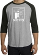 Game Over Marriage Ceremony Raglan Heather Grey/Black - White Print