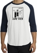 Game Over Marriage Ceremony Raglan White/Navy Shirt - Black Print