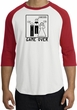 Game Over Marriage Ceremony Raglan White/Red Shirt - Black Print