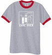 Game Over Marriage Ceremony Ringer Heather Grey/Red Tee White Print
