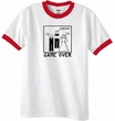 Game Over Marriage Ceremony Ringer White/Red Tee - Black Print