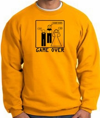 Game Over Marriage Ceremony Sweatshirt Funny Gold - Black Print