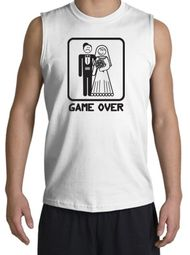 Game Over Muscle Shirt Funny Marriage Bride and Groom Shooter