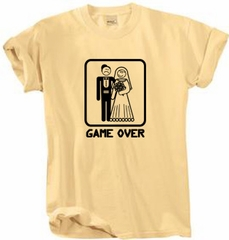 Game Over Pigment Dyed T-shirt Funny Honey Tee - Black Print