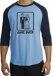 Game Over Raglan Shirt Funny Marriage Carolina Blue/Navy Black Print