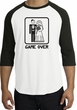 Game Over Raglan Shirt Funny Marriage White/Black - Black Print