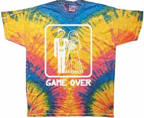 Game Over Shirt Woodstock Tie Dye T-shirt