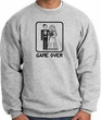 Game Over Sweatshirt Funny Marriage Athletic Heather - Black Print