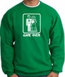 Game Over Sweatshirt - Funny Marriage Kelly Green - White Print