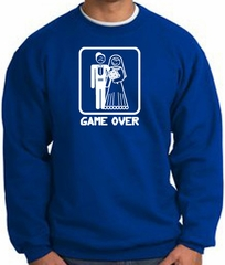 Game Over Sweatshirt Funny Marriage Royal Sweatshirt - White Print