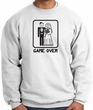 Game Over Sweatshirt Funny Marriage White Sweatshirt - Black Print