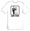 Game Over T-shirt Funny Marriage Bride and Groom Tee Shirt