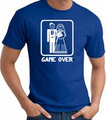 Game Over T-shirt - Funny Marriage Bride Groom Royal Tee White Print
