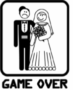 Game Over Wedding T-shirts