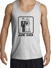 Game Over Tanktop Funny Marriage Ash Tank Top – Black Print