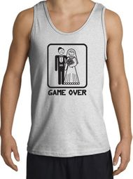 Game Over Tanktop Funny Marriage Ash Tank Top � Black Print