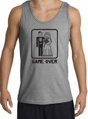 Game Over Tanktop Funny Marriage Sport Grey Tank Top – Black Print