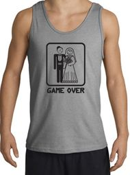 Game Over Tanktop Funny Marriage Sport Grey Tank Top � Black Print