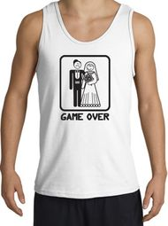 Game Over Tanktop Funny Marriage White Tank Top � Black Print