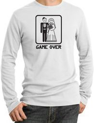 Game Over Thermal Funny Marriage Bride Groom Shirt