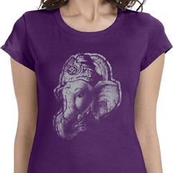 Ganesha Profile Ladies Yoga Shirts