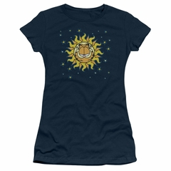 Garfield Juniors T-shirt Celestial Sunflower Navy Blue Tee Shirt