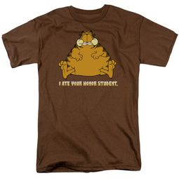 Garfield T-shirt I Ate Your Honor Student Adult Brown Tee Shirt