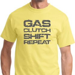 Gas Clutch Shift Repeat Grey Print