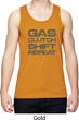 Gas Clutch Shift Repeat Grey Print Mens Moisture Wicking Tanktop