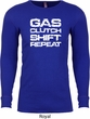 Gas Clutch Shift Repeat White Print Long Sleeve Thermal Shirt