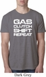 Gas Clutch Shift Repeat White Print Mens Burnout Shirt
