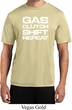 Gas Clutch Shift Repeat White Print Mens Moisture Wicking Shirt