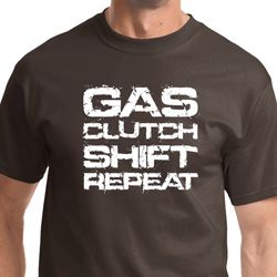 Gas Clutch Shift Repeat White Print Mens Shirts