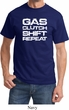 Gas Clutch Shift Repeat White Print Shirt